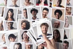 Einzelne Bilder von unterschiedlichen Personen, die Zielgruppen repräsentieren